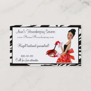 African business cards templates zazzle house cleaning diva african a business cards colourmoves