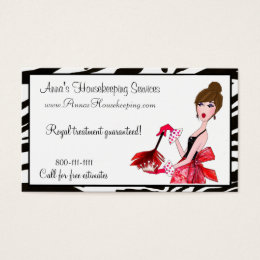 House cleaning business cards templates zazzle house cleaning diva dark hair business cards colourmoves