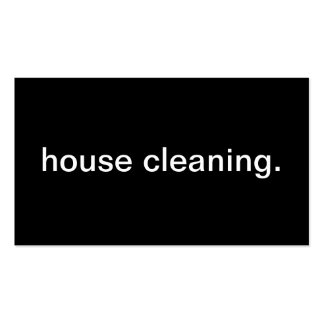 House Cleaning Double-Sided Standard Business Cards (Pack Of 100)