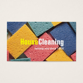 House Cleaning Housekeeper Maid Business Card
