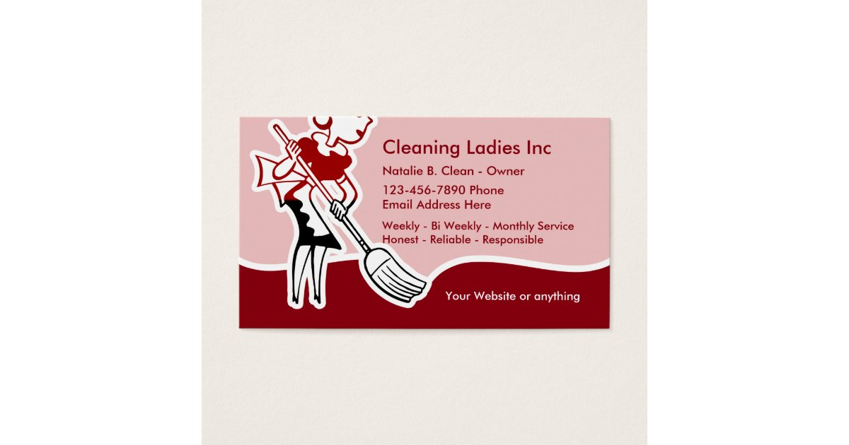 House Cleaning Maid Business Card Zazzle Com
