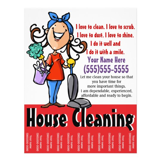 House Cleaning Marketing Flyer Zazzle Com