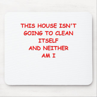 house cleaning mouse pad