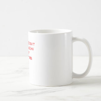 house cleaning classic white coffee mug