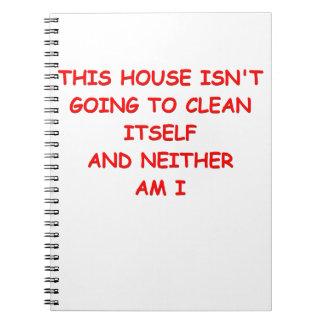 house cleaning note books