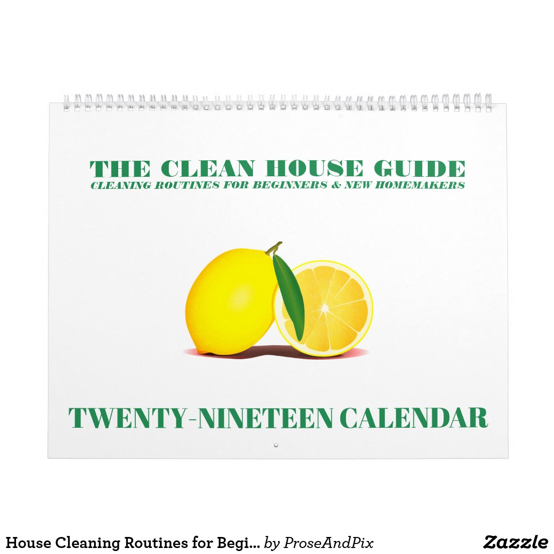 House Cleaning Routines for Beginners 2019 Calendar