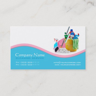 blue cleaning service business card zazzlecom - Cleaning Company Business Cards