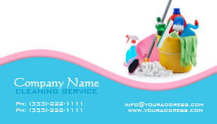 Cleaning services business cards zazzle house cleaning service light blue pink wave card colourmoves