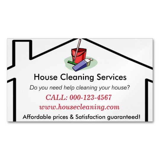 house cleaning services business card template. Black Bedroom Furniture Sets. Home Design Ideas