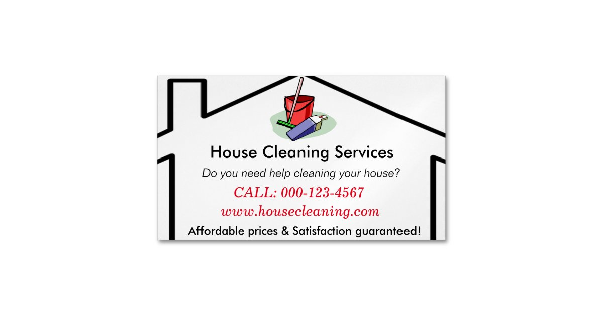 house cleaning services business card template zazzle. Black Bedroom Furniture Sets. Home Design Ideas