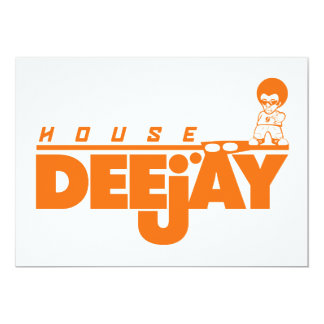 House Deejay 5x7 Paper Invitation Card