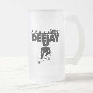House DeeJay Frosted Glass Beer Mug