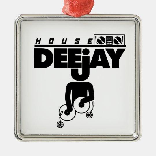 House DeeJay Metal Ornament