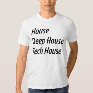 House, Deep House, Tech House T-shirt