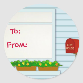 House Design-Gift Tag Sticker