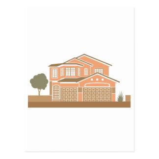 House design postcard
