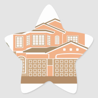 House design star sticker