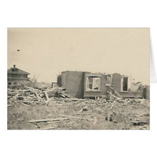 house destroyed natural disaster card