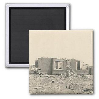 house destroyed natural disaster magnet