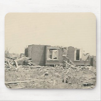 house destroyed natural disaster mouse mats