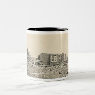 house destroyed natural disaster mug