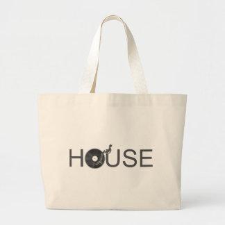 House DJ Turntable - Music Disc Jockey Vinyl Jumbo Tote Bag