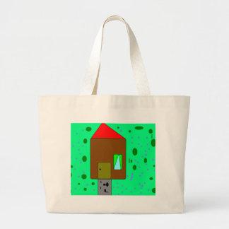House Door Path, Digital Painting, Art by Kids Jumbo Tote Bag