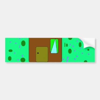 House Door Path, Digital Painting, Art by Kids Bumper Sticker