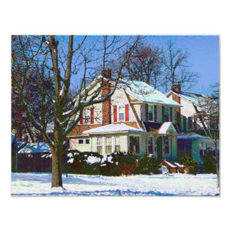 House Down the Street in Winter Card