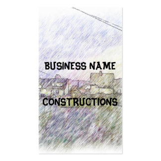 House drawing business card