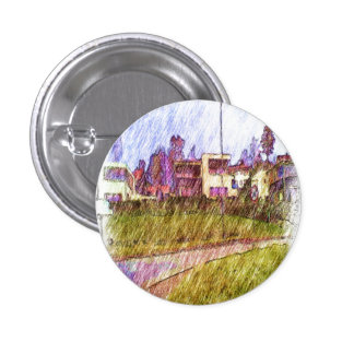 House drawing 1 inch round button
