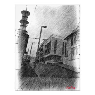 House drawing photo print