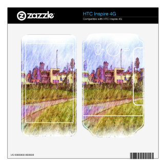 House drawing HTC inspire 4G decal