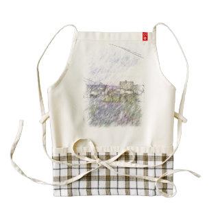 House drawing zazzle HEART apron