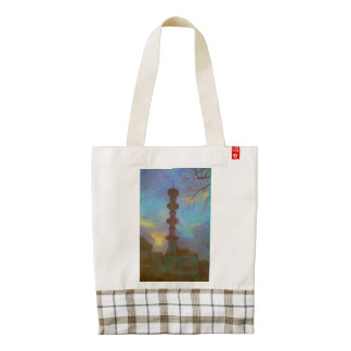 House drawing zazzle HEART tote bag