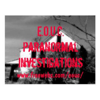 house, E.O.U.C.ParanormalInvestigations, www.fr... Postcard