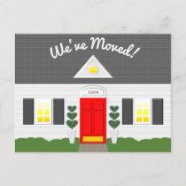 House Facade New Address Postcard