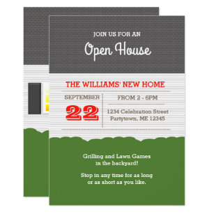 Open house invitations 3100 open house announcements invites house facade open house invitation stopboris Image collections