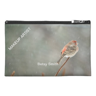 House Finch on a Branch Travel Accessory Bag