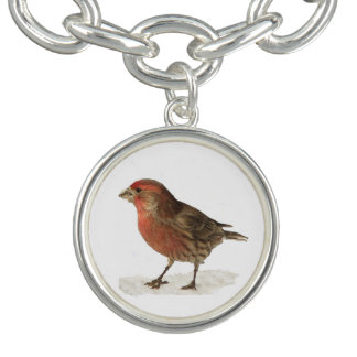 House Finch Charm Bracelet