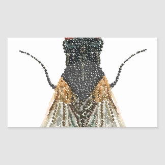 House Fly Bedazzled Rectangular Sticker