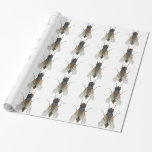 house fly . wrapping paper