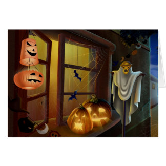 House for Halloween - Greeting Card