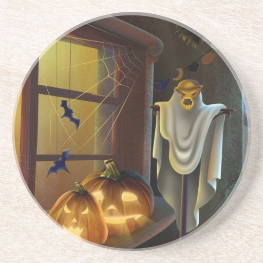 House for Halloween - Drink Coasters