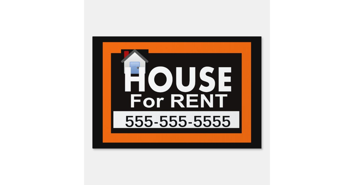House for Rent Yard Sign | Zazzle.com