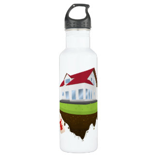 House For Sale 24oz Water Bottle