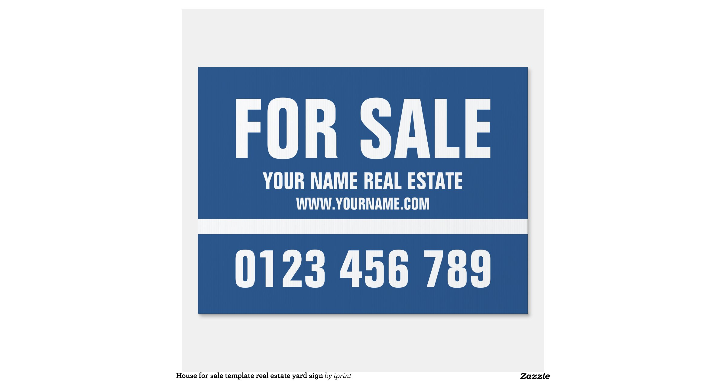house for sale template real estate yard sign zazzle