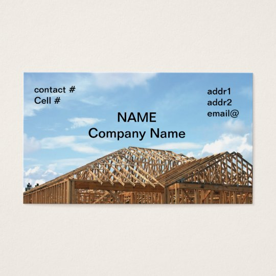 House Framing Business Card