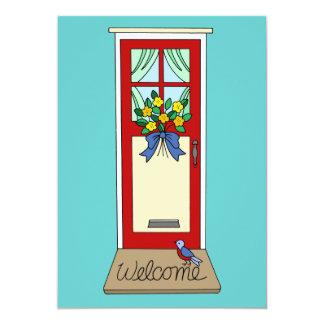 House Front Door Welcome Mat Card