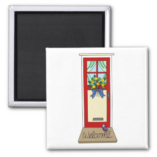 House Front Door Welcome Mat Magnet